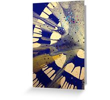 Spin Art Paint and Glitter Abstract Greeting Card