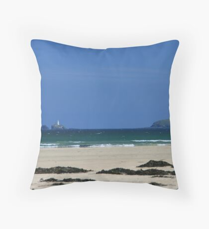 Porth Kidney Sands III Throw Pillow