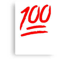100 [Red] Canvas Print