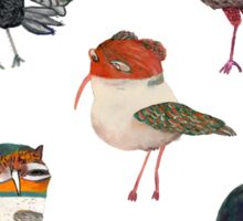 Bunch of Birds Sticker