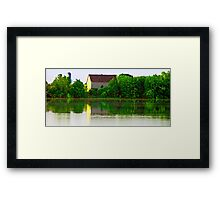 Sunrise hits the barn Framed Print