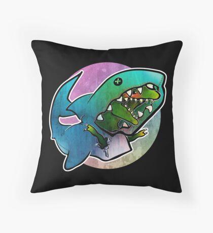I'd rather be a shark Throw Pillow
