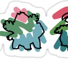 Bulbasaur Evoloution Sticker