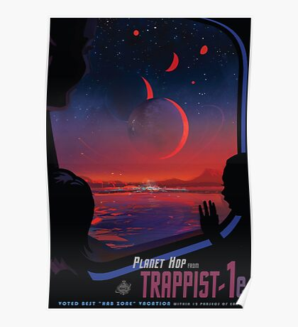 Trappist 1 -- NASA Travel Poster Poster