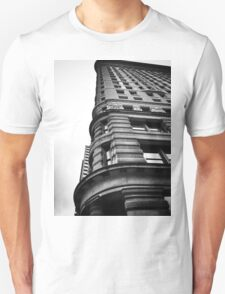 Flatiron Building, NYC, Black and White T-Shirt