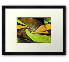 Lime Twist Framed Print