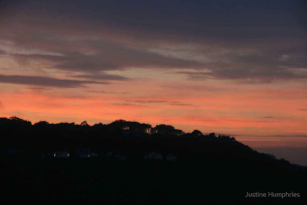 Orange sky over St Ives by Justine Humphries