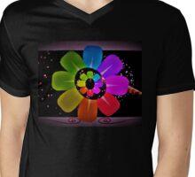 Floral excitement Mens V-Neck T-Shirt