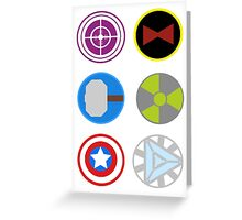 Avengers symbols Greeting Card