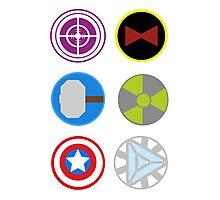 Avengers symbols Photographic Print