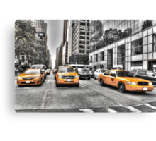 Yellow Taxis....New York City Canvas Print
