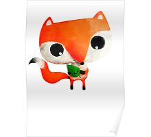 Cute Little Fox Poster