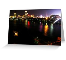 Boston Nightlife Greeting Card