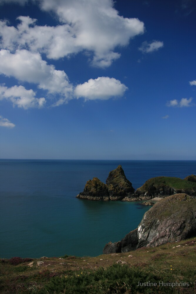 Views above Kynance Cove by Justine Humphries