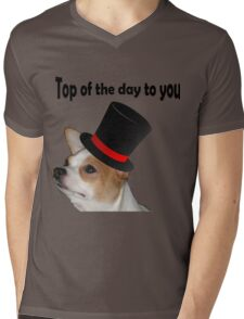 Top of the day Mens V-Neck T-Shirt