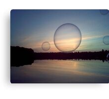 Bubble Above the Water Canvas Print