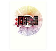 Colorful Cosmo Flying Lotus Art Print