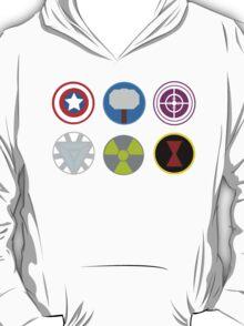 Avengers symbols-horizontal  T-Shirt