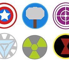 Avengers symbols-horizontal  by Oona Oceana