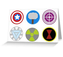 Avengers symbols-horizontal  Greeting Card