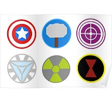 Avengers symbols-horizontal  Poster