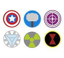 Avengers symbols-horizontal  Photographic Print