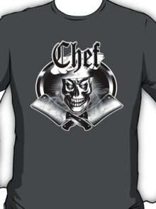 Chef Skull and Smoking Cleavers 3.1 T-Shirt
