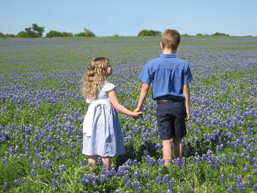 A Walk in the Bluebonnets by EmmaLeigh