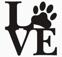 LOVE DOG PAW by Tony  Bazidlo