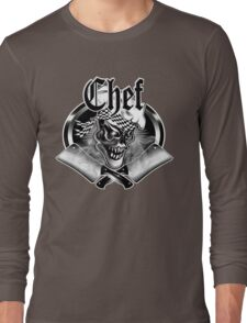 Chef Skull and Crossed Smoking Cleavers 5 Long Sleeve T-Shirt