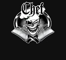 Winking Chef Skull and Crossed Cleavers 7 Unisex T-Shirt