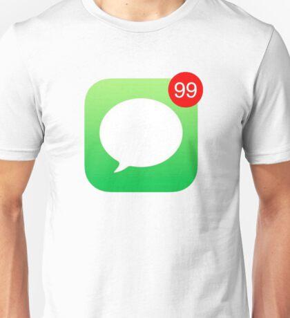iMessage Notifications iPhone Unisex T-Shirt