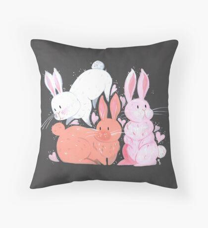 Bunny Love Throw Pillow
