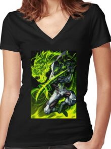OVERWATCH Women's Fitted V-Neck T-Shirt