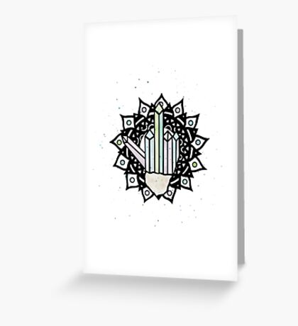 Middle Finger Mandala (Crystal) Greeting Card