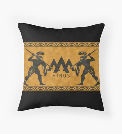 Ancient Ainos Throw Pillow