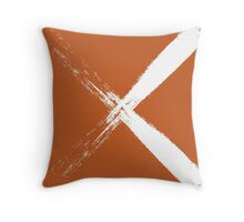 Burnt orange cross Throw Pillow