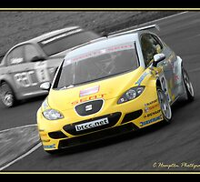 Seat's Darren Turner. British Touring Car Championships at Knockhill 2nd August 07 by champtonphotography