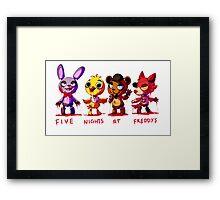 Five Nights At Freddys Animatronics Framed Print