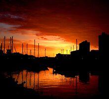 Marina Bay sunrise by migueldelmonte