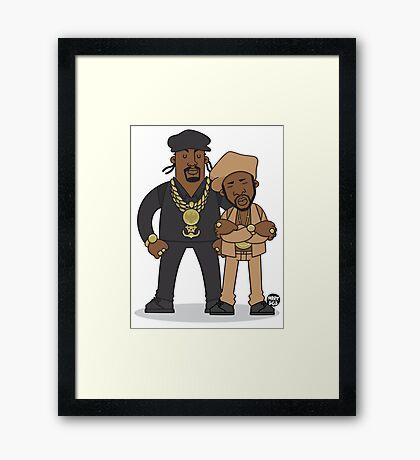Evolution Of The B-Boy – Eric B & Rakim Framed Print