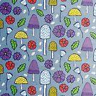 Mushrooms and Flowers by JMHurd