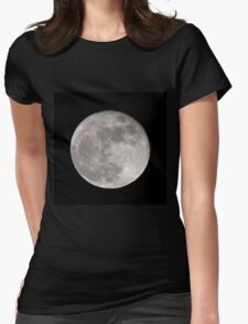 Moon Ball Womens Fitted T-Shirt