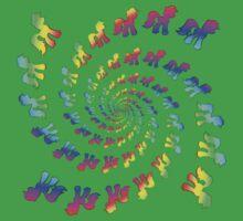 Rainbow Pony Spiral Explosion Kids Tee