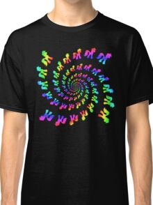 Rainbow Pony Spiral Explosion Classic T-Shirt