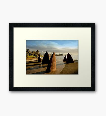 Stone sails Geelong Foreshore - Victoria Framed Print