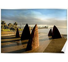 Stone sails Geelong Foreshore - Victoria Poster