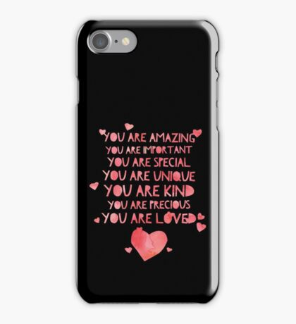 Cute You Are Loved - Best Gift for Him, Her, Boyfriend, Girlfriend, Husband, Wife, Couples, Men, Women, Mom, Dad, Grandma, Brother or Friends iPhone Case/Skin
