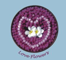 LOVE Flowers Floating into a Heart Kids Clothes