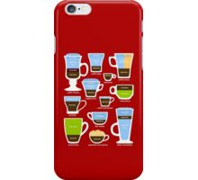 Espresso Coffee Drinks Guide iPhone Case/Skin
